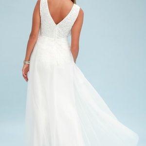 ce77341dc2f Lulu s Dresses - Lulu s Minnie White Lace Maxi Dress